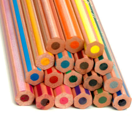 Back of the coloured pencils photo