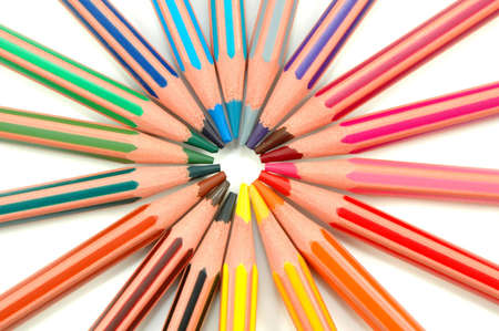 Rainbow made of coloured pencils Stock Photo - 6770309