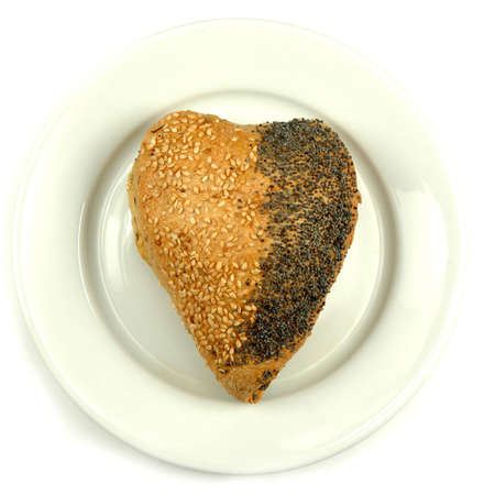 Heart roll on plate photo