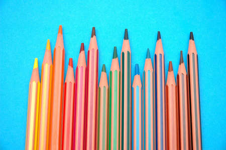 many striped coloured pencils Stock Photo - 6770339