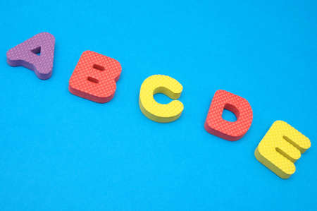 Letters from A -alphabetic order photo