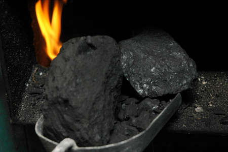 coal thrown into the stove