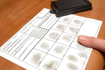 friction ridges: taking fingerprints on ID card