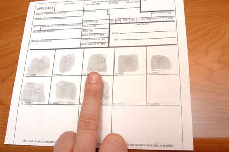 taking fingerprints  Stock Photo - 7168716