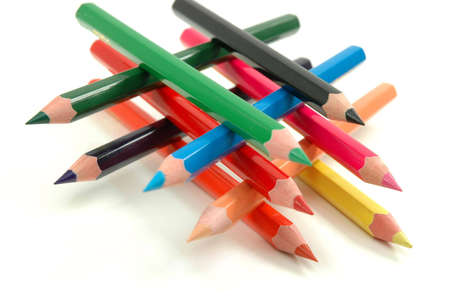 descriptive colour: Crayons Stock Photo