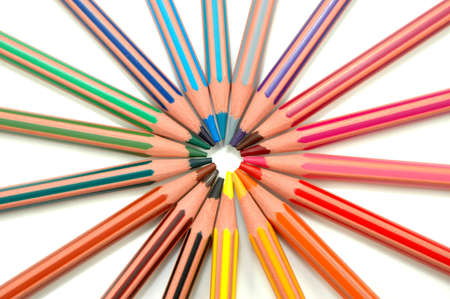 put away: Coloured pencils put away in the district