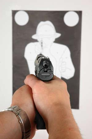 target shooting: Target Shooting Stock Photo