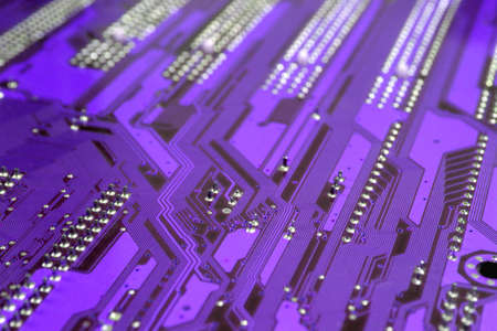 Printed circuit board with paths photo
