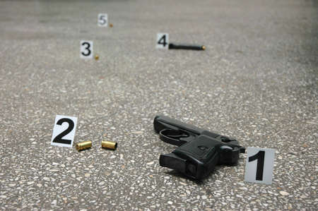 Forensic Science -place of shooting photo
