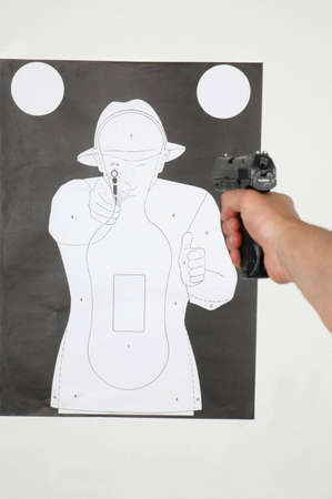 shooting range - shooting at the target photo
