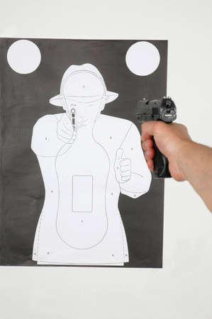 shooting range - shooting at the target photo