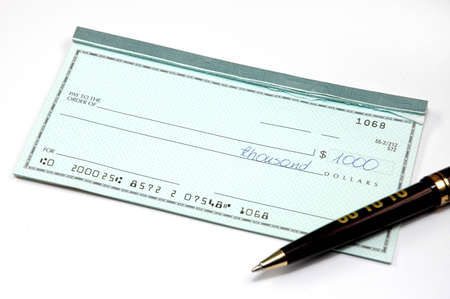 check and pen Stock Photo - 7613901