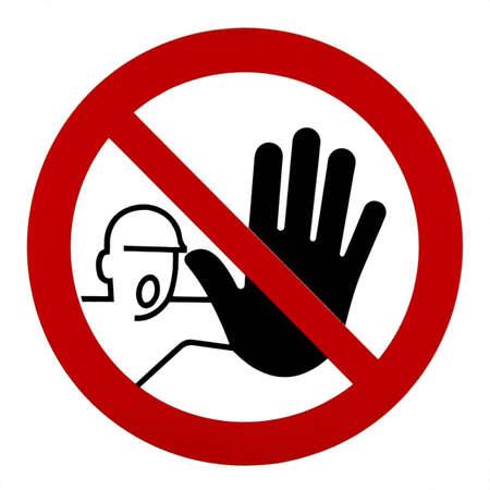 unauthorized: Unauthorized no admittance -sign Stock Photo