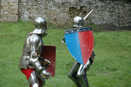 duel: Duel between two knights Stock Photo