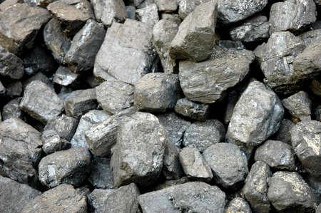Stack of black coal -closeup photo