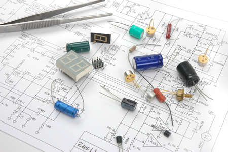 electronic components on scheme