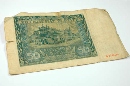 negotiable instrument: Old paper money Stock Photo