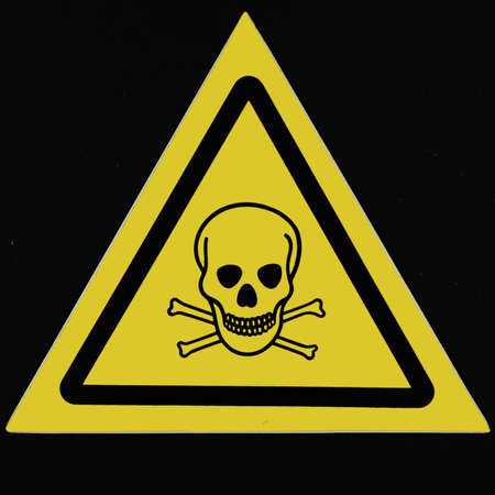 Alerting poisoning of intoxicants to a danger -sign Stock Photo - 8536834