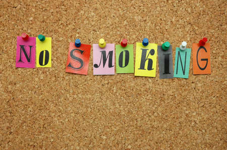 No smoking pinned on noticeboard Stock Photo - 8644187