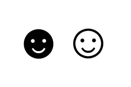 Two smile faces on white background