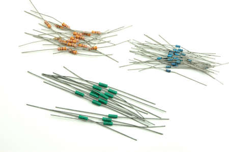 Electronic components -resistors and diodes photo