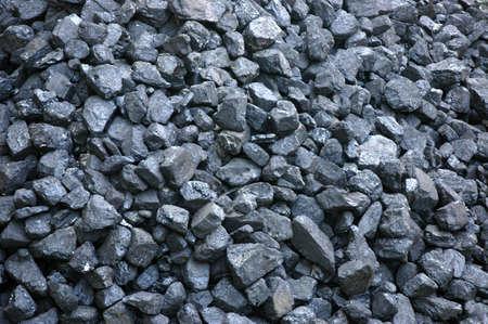 Pile de noir charbon - combustibles fossiles
