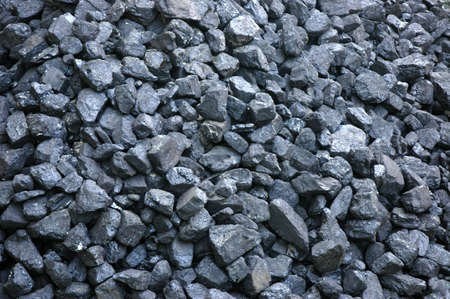 Stack of  black coal- fossil fuel Stock Photo - 9030178