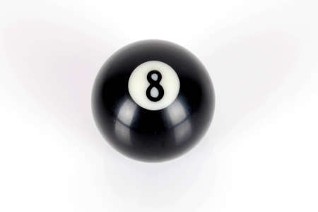 Billiard ball -number eight on white background Stock Photo - 9249991