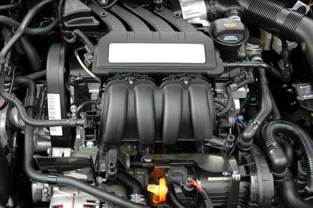 hose: Primer plano de motor del coche