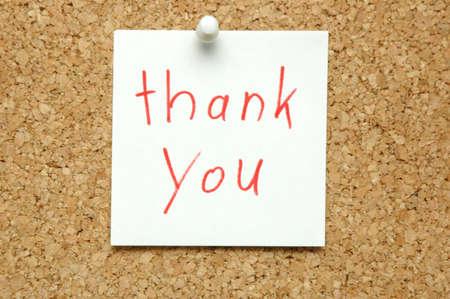 Thank You on Bulletin Board Stock Photo - 9291669