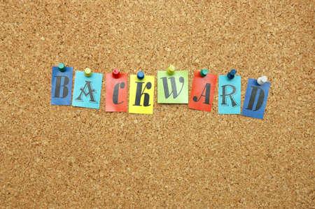 noticeboard: Backward pinned on noticeboard