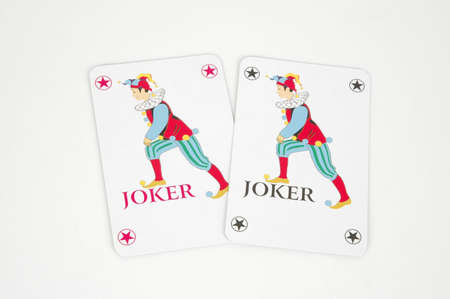 Jokers -two playing cards Stock Photo - 9354532