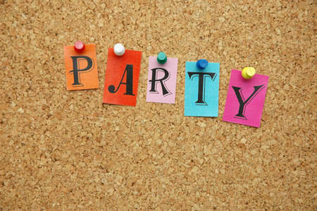 pinned: Party pinned on noticeboard