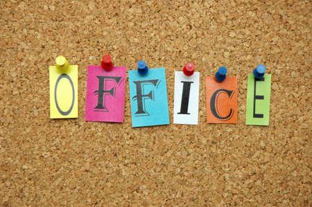 noticeboard: Office pinned on noticeboard