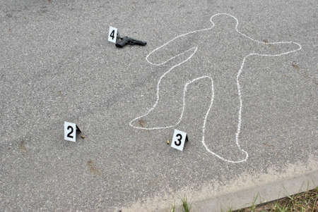 Crime scene - murder on the street photo