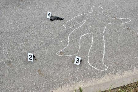 Crime scene - murder on the street