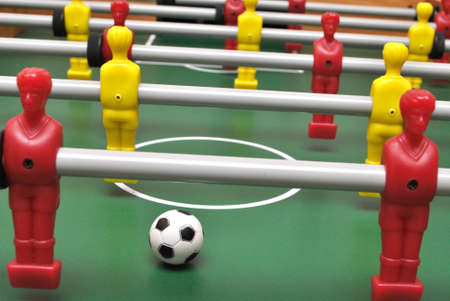 Table football soccer game with ball