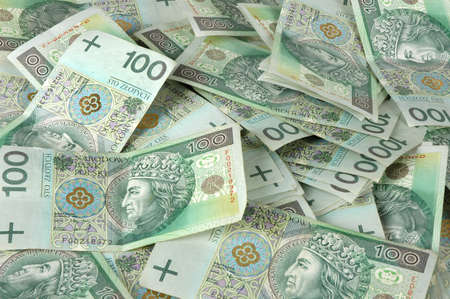 Polish one hundred banknotes - currency photo