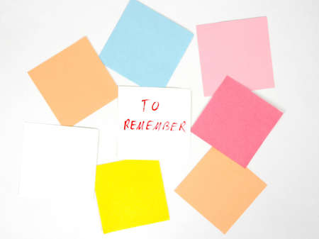 reminder on blank color papers photo