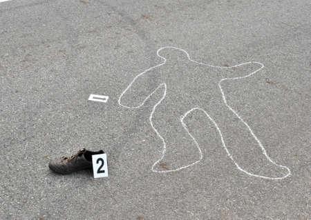 escena del crimen: Asesinato en la calle-crimen