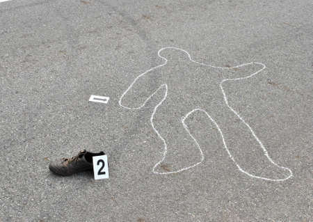Murder in the street -crime scene