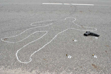 Murder in the street -crime scene photo