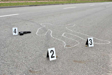 Crime scene - murder on the street Stock Photo - 10411782