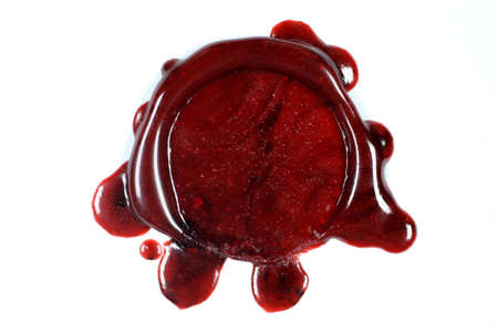 seal wax: Blank sealing wax seal on white background