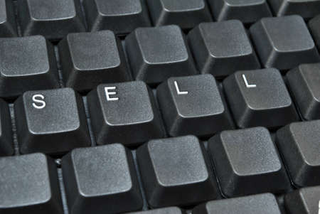 SELL written on computer keyboard Stock Photo - 12235364