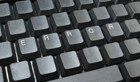 Error written on computer keyboard Stock Photo - 12235366