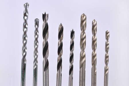 Set of drill bits- lip and spur , masonry bit , twist drill bits