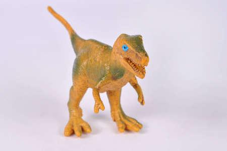 sauropod: Toy-nanotirano sobre fondo blanco