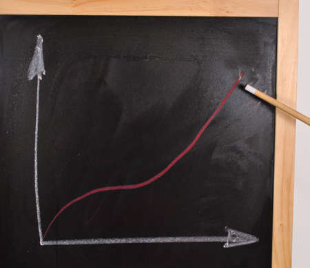 Analysis of the business chart on a blackboard photo