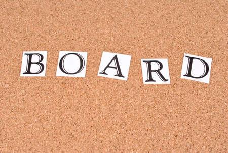 Board -text on cork-board Stock Photo - 15552153